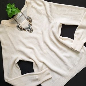 Equipment Ivory Sloane Crew Neck Cashmere Sweater